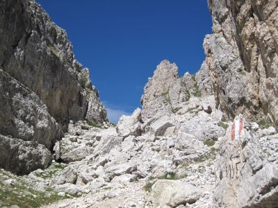 Dolomitenhöhenweg Nr.2 – Gardenacia-Hütte – Puezhütte
