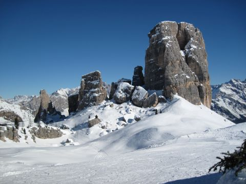 Skitour – Kolfuschg – Lagazuoi – 5 Torri