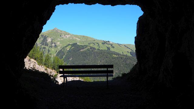 Der Tunnelweg zur Sulzlalm